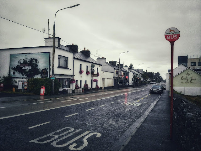 view of Moycullen and the bus stop