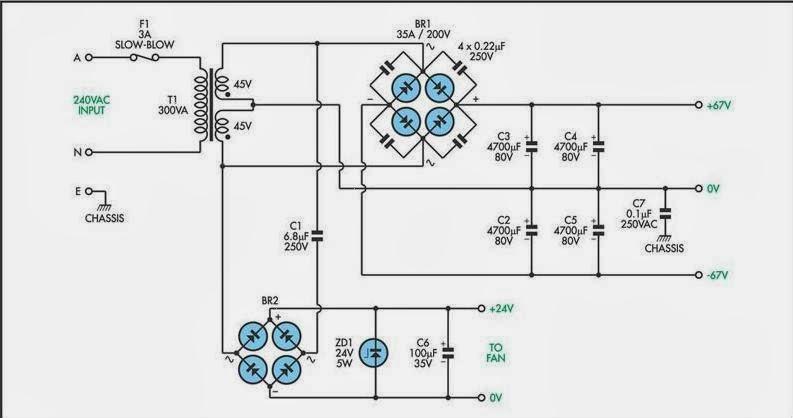 200W Subwoofer Amplifier Circuit ~ AmplifierCircuits.com