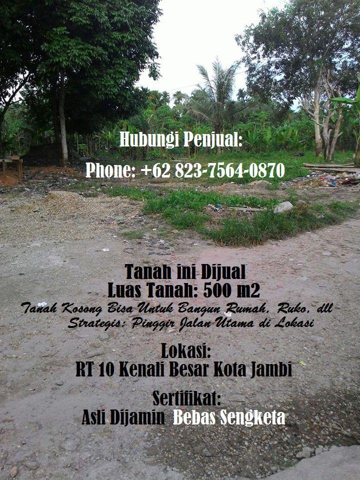 Jual Tanah di Kota Jambi