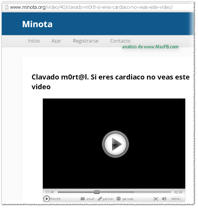 Página que expande SPAM y virus - MasFB