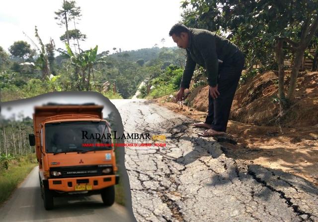 Mobil Proyek Rusak Jalan, Rekanan Malah Bilang Begini...