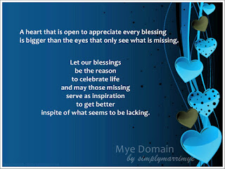mye domain's a grateful heart