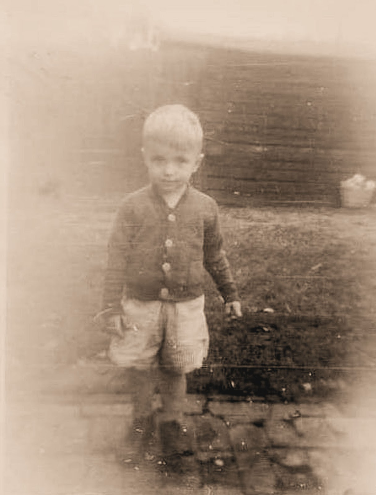How cute is this little guy?! This is a found vintage, black and white  photo that I edited, giving it a slight sepia tone.