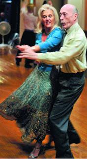 working up a sweat in tango dancing