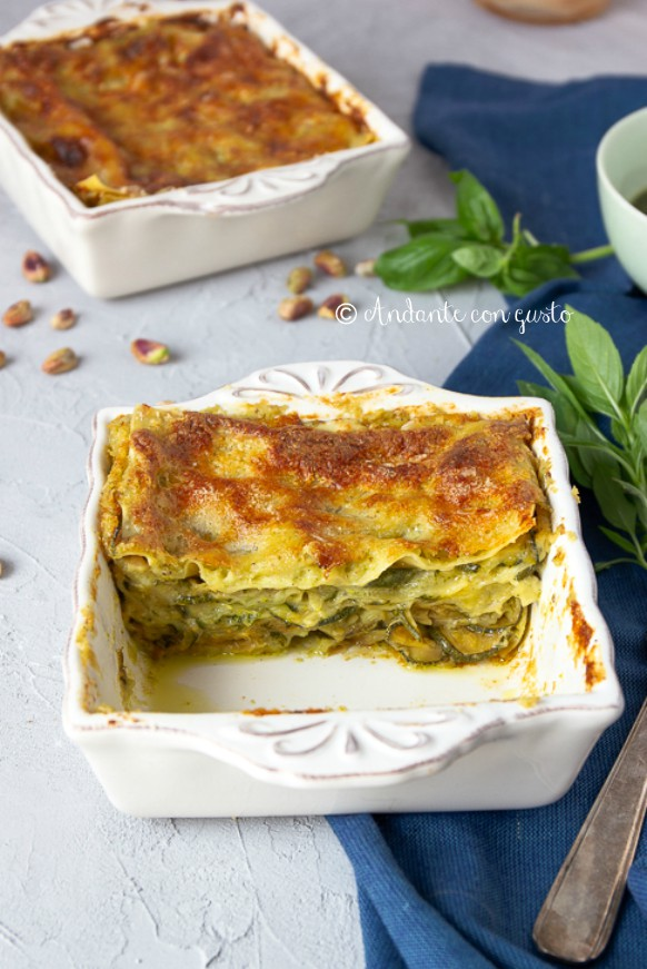 Andante Con Gusto Lasagne Al Pistacchio E Zucchine Sindrome Da