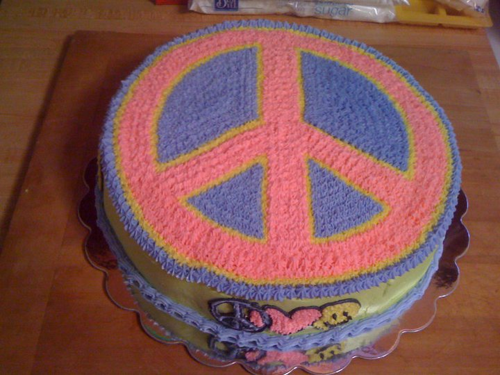 Shannon S Crazy Kitchen Tie Dyed Peace Sign Cake