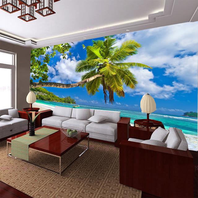 naturtapet tropisk fototapet strand hav palmer fondtapet 3d vardagsrumstapet landskap