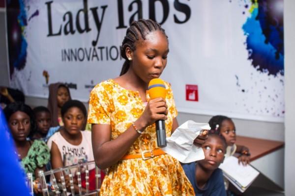Chibok girls at Lady Labs Innovation Hub