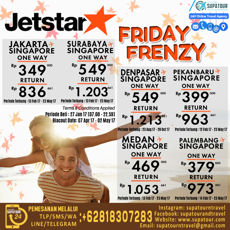 Jetstar Friday Frenzy