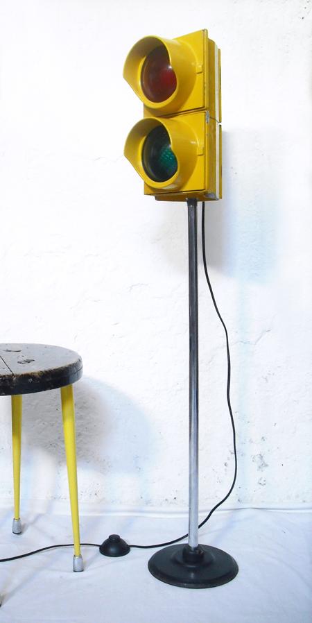 1unik In Action Vintage Traffic Lights Into Floor Lamp