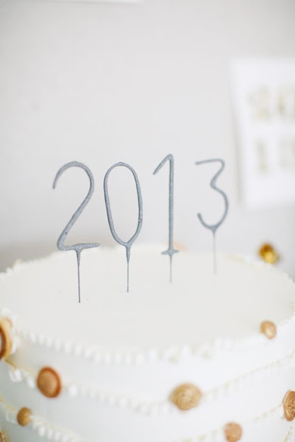 sparkler cake toppers for New Year's Eve party