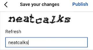 Wikipedia mei captcha entry karke publish kare