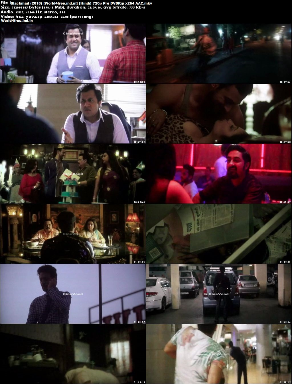 Blackmail 2018 worldfree4u Hindi Movie Hd Download pDVDRip