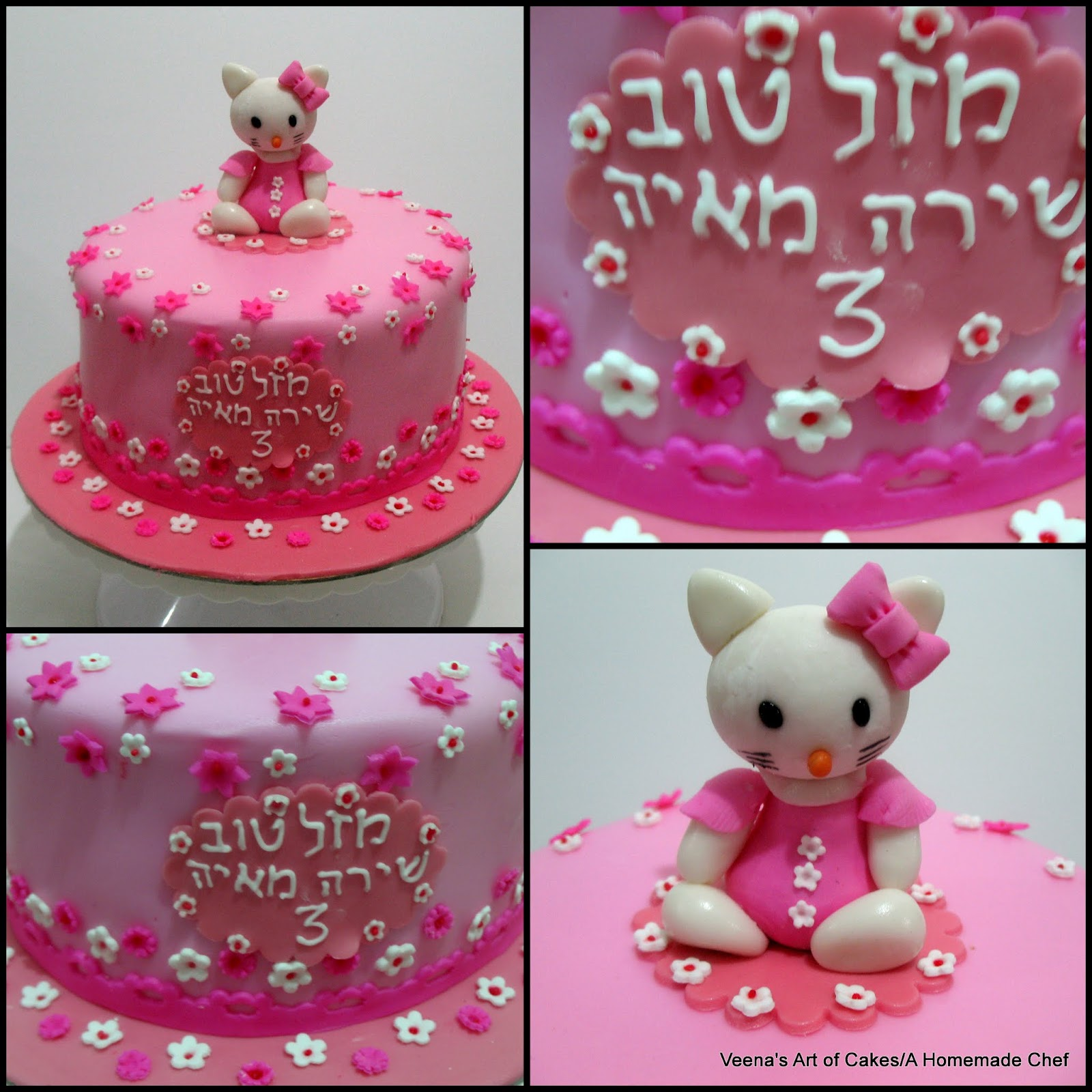How to make Gum Paste Hello Kitty Veena Azmanov
