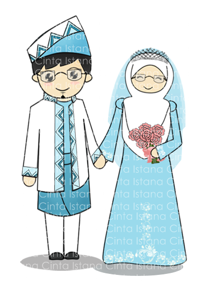 Kartun Wedding Muslim Png
