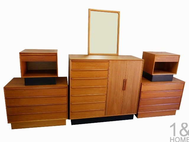 vintage danish modern bedroom furniture