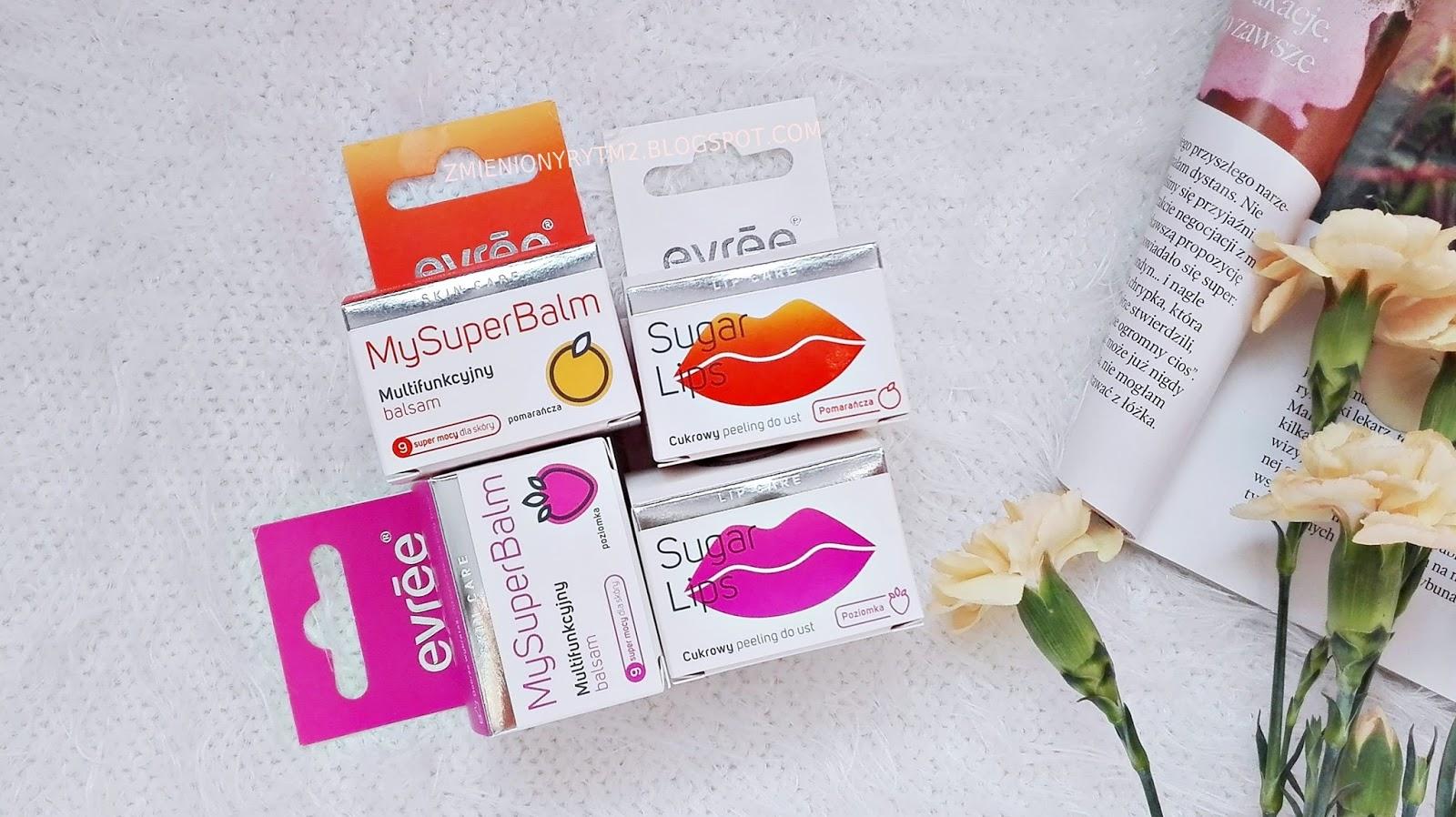 Poziomki czy pomarańcze?   Produkty do ust marki Evree ♥
