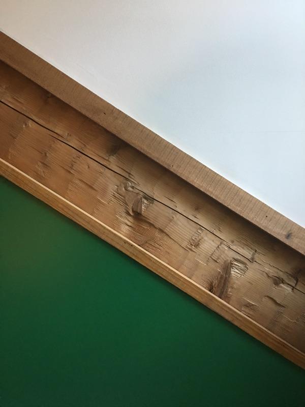One Room Challenge | Boy's Science Bedrooom | Benjamin Moore Cat Eye Green | Log Home