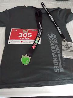 Courses gourmandes Demi-marathon des Vergers T-shirt Médaille Cocarde de bénévole