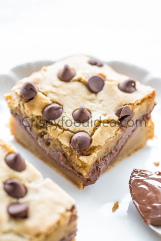 nutella blondies picture