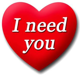 I need you emoticon