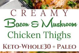 Creamy Mushroom & Bacon Chicken Skillet