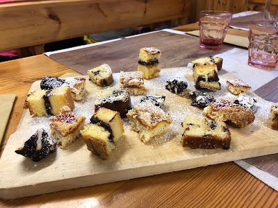 Desserts at Rifugio Brunone.