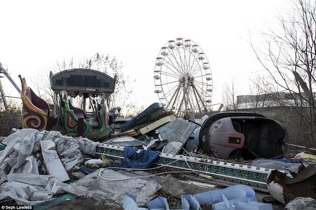 haunted amusement park, six flags neworleans, abandoned amusement park