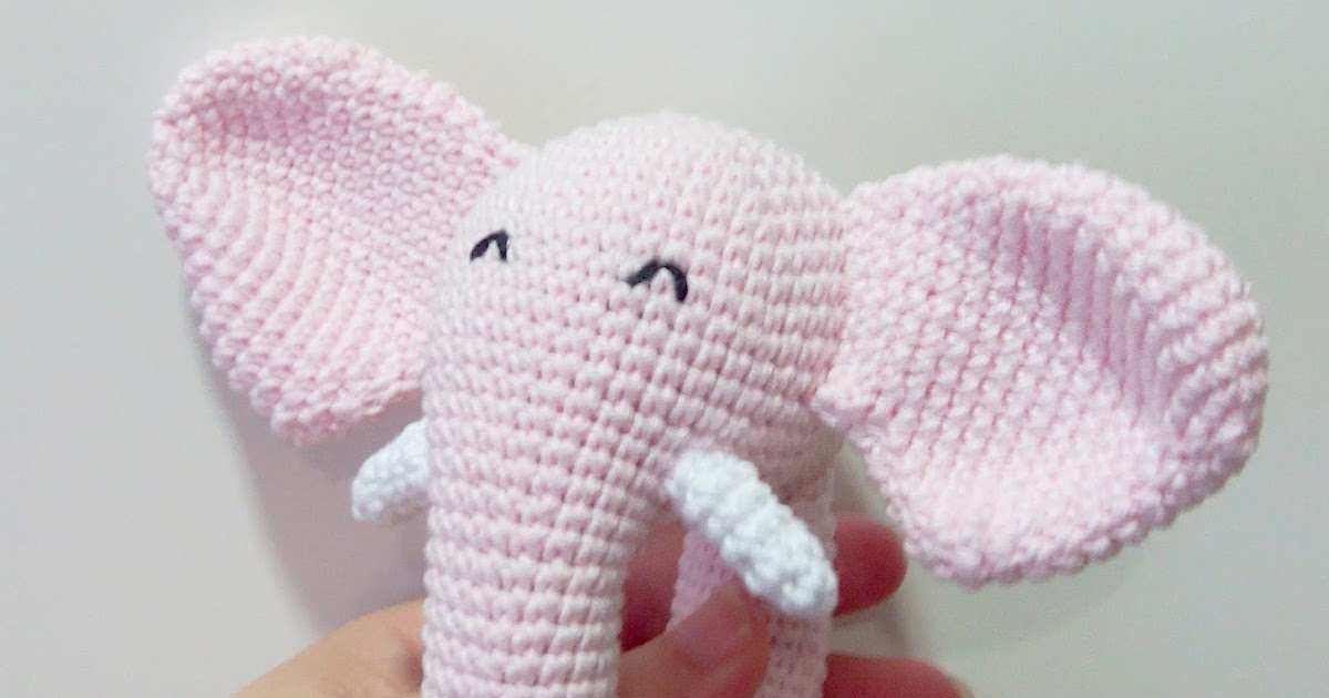 Patron amigurumi Elefante - En formato PDF (ganchillo crochet) | 630x1200