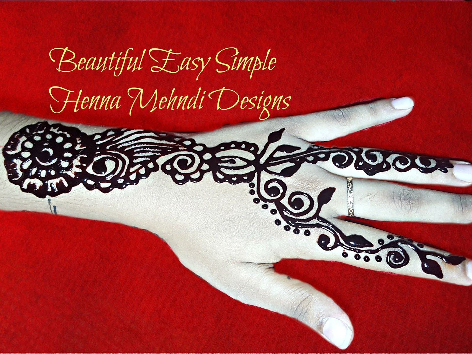 Easy Mehndi Designs For Left Hand Palm For Beginners