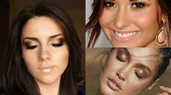 maquiagem cor bronze