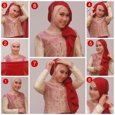 Tutorial cara memakai hijab paris 2015