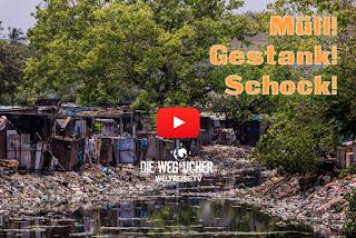 Kulturschock in Indien Chennai müllprobleme in Indien super krasser Gestank Müll im Ozean WELTREISE Die Wegsucher Arkadijs WELTREISE.TV