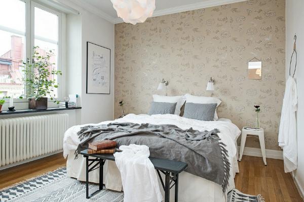 De lunes a domingo carisma en dormitorios sencillos s lo con papel pintado - Papel pintado para recibidores ...