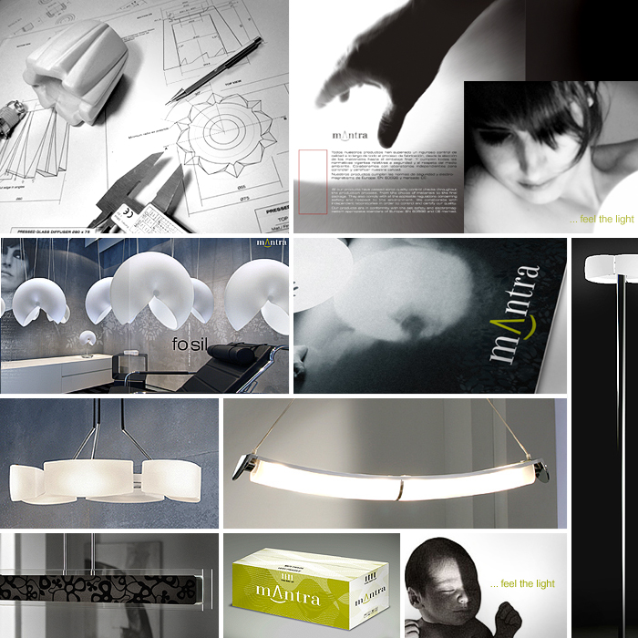 Multidisciplinary design and creative direction for Mantra Lighting by Somerset Harris