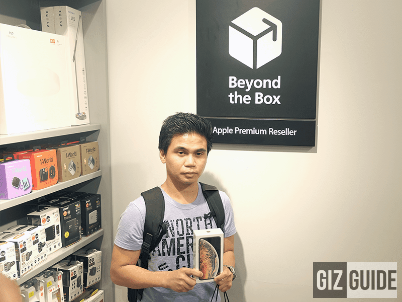 Beyond the Box's first iPhone XS Max customer!