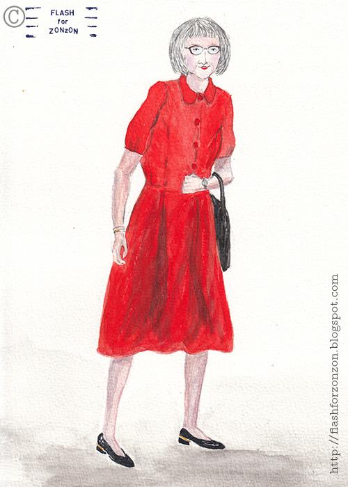 Street Style Helsinki. Adwanced style Red Dress.