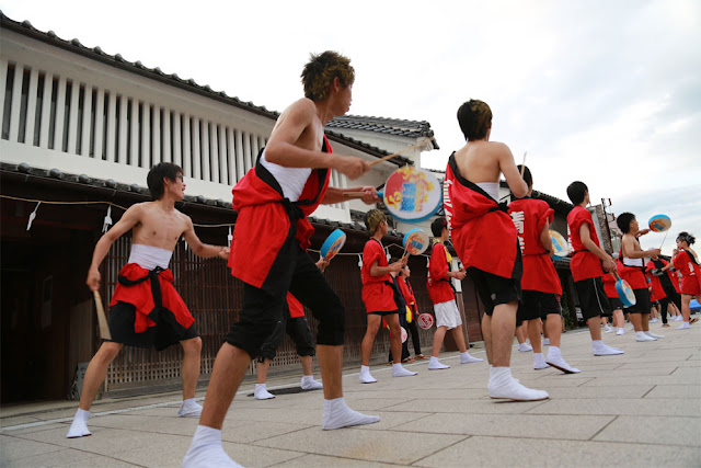 Miyoshi Kinsai Festa (summer festival), Miyoshi City, Hiroshima Pref.