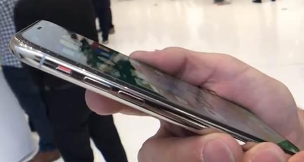Iphone X parte lateral izquierda