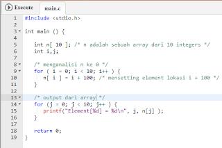 Mengenal Array Pada Bahasa Pemrograman C