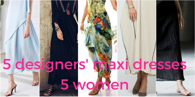 5 designers' maxi dresses for five different women. Matching personal style with independent designers at StyleWe