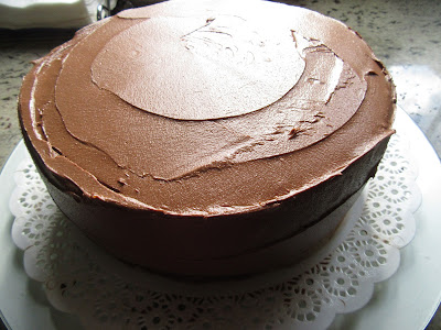 Tarta buttercream de chocolate Thermomix