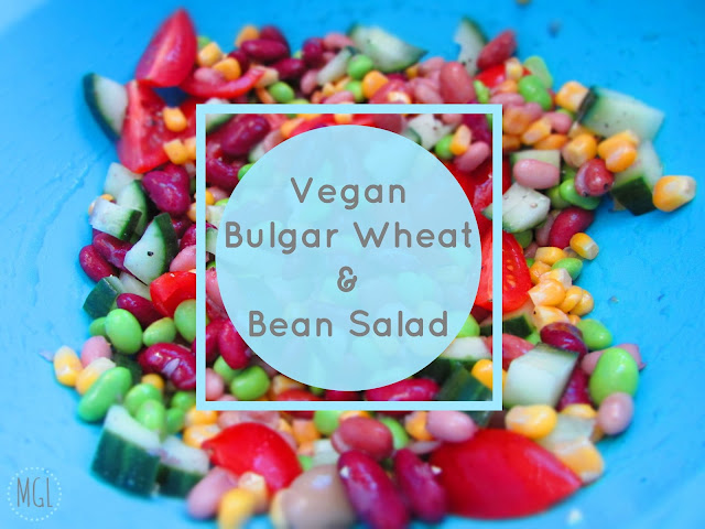 My General Life - Vegan Bulgar Wheat and Bean Salad