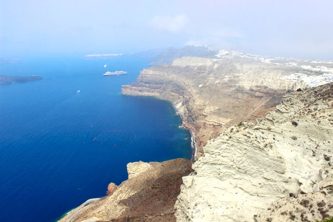 Santorini natural beauty, view from above