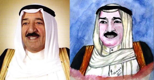 The Ruler of Kuwait ( 5th Emir ) His Highness Sabah Al-Ahmad Al-Jaber Al-Sabah..