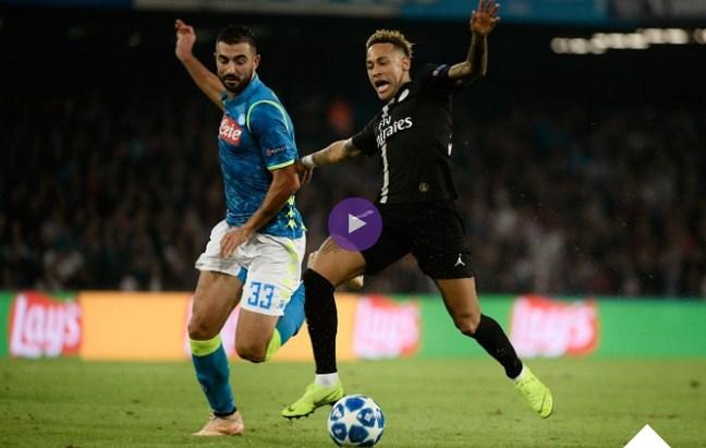 فيديو : نابولي يتعادل مع باريس سان جيرمان فى دورى ابطال اوروبا
