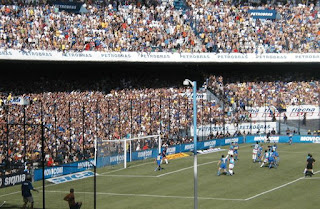 A football match in Buenos Aires