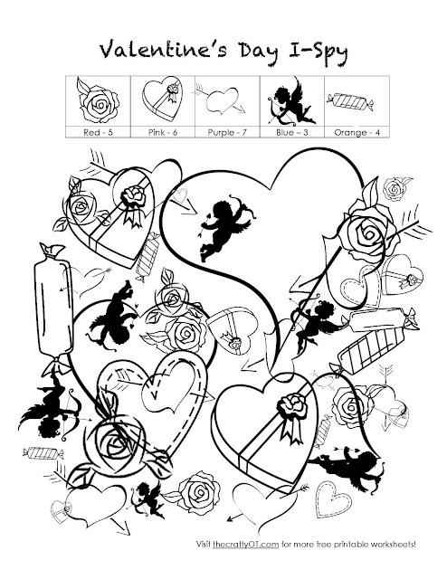 the crafty OT: Free Valentine's Day Worksheets