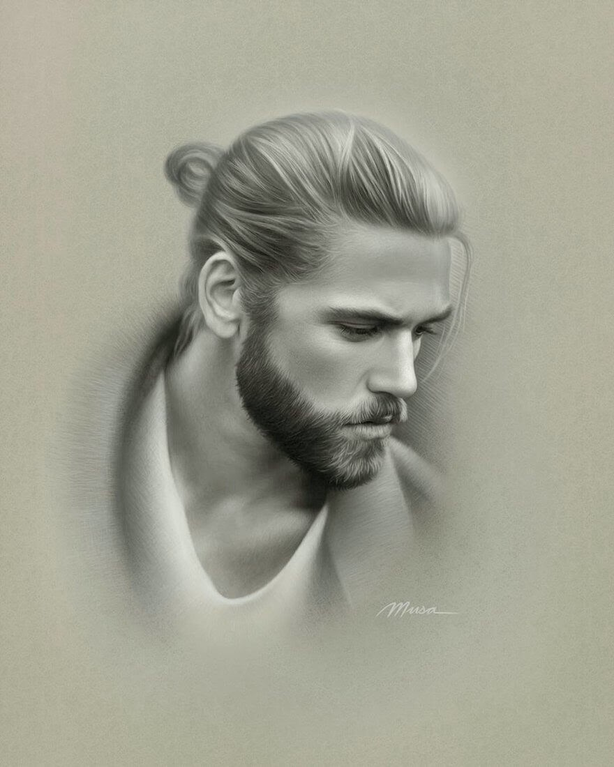 01-Musa-Çelik-11-B&W-and-2-Color-Pencil-Drawings-www-designstack-co
