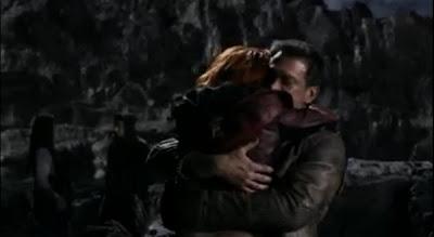 Defiance pilot Irisa Nolan hug Stephanie Leonidas Grant Bowler battle leather jackets images screencaps